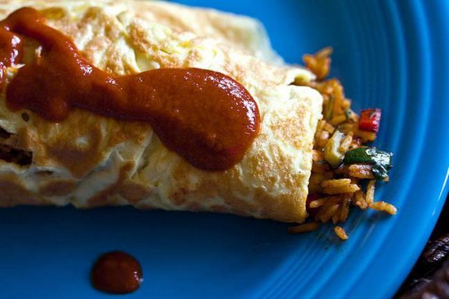 рисовий омлет рецепт з фото