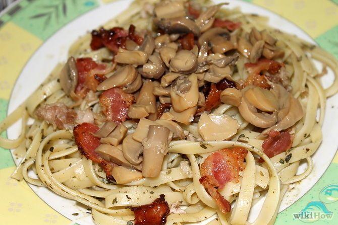 Зображення з назвою Make Pesto Pasta With Bacon, Chicken and Mushroom Step 5