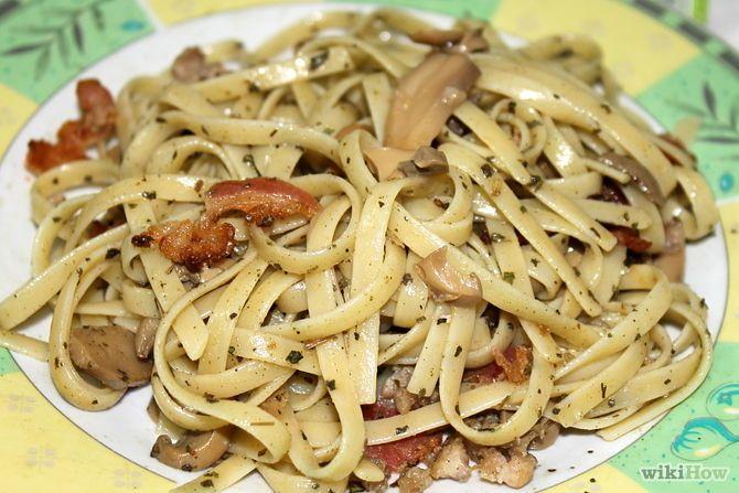 Зображення з назвою Make Pesto Pasta With Bacon, Chicken and Mushroom Step 6