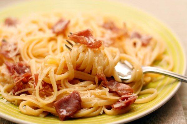 Як приготувати спагетті з шинкою