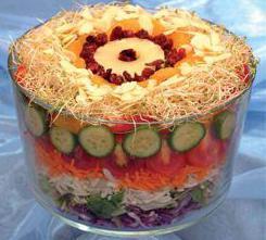 листковий салат з ананасом рецепт