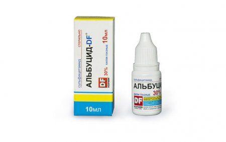 Краплі альбуцид для новонароджених для лікування і профілактики захворювань очей і носа