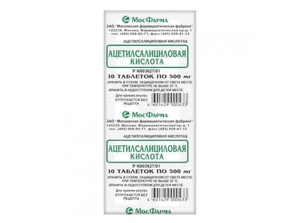 Ацетилсаліцилова кислота таблетки