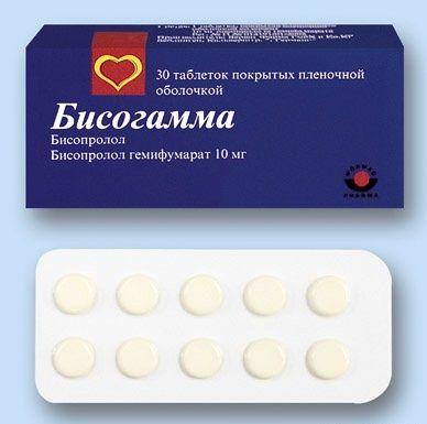 Бісогамма таблетки інструкція із застосування